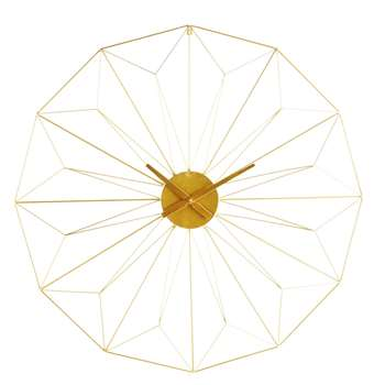 AKIMI Gold Metal Clock (100 X 100cm)