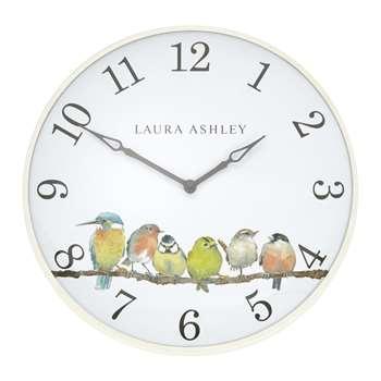 Wall clocks garden birds small wall clock 35 x 35cm gumiabroncs Choice Image