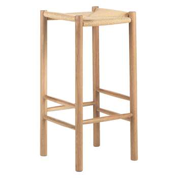 Finest habitat oregan oak bar stool with natural cord seat x cm with table console extensible - Table console extensible habitat ...
