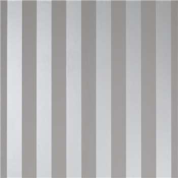 Lille Steel Stripe Wallpaper