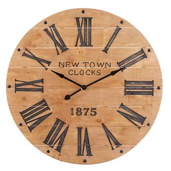 Wall clocks new town carved pine clock 110 x 110cm gumiabroncs Choice Image