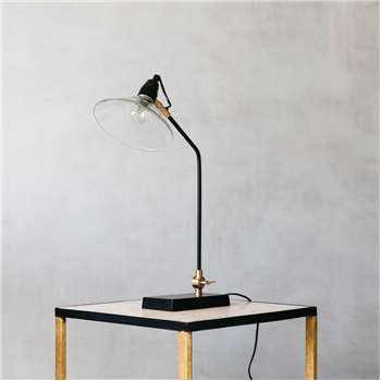 Purdy table lamp with glass shade height 56cm