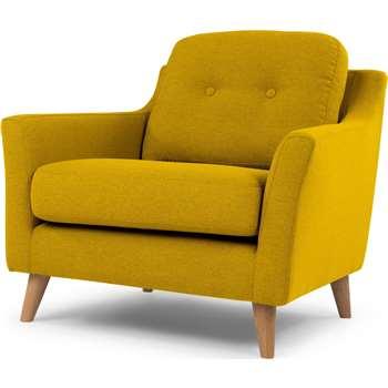 Rufus Armchair, Mustard Yellow (81 X 80cm)