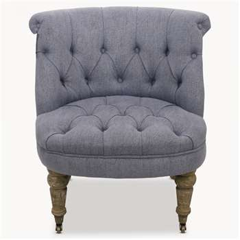 St James Blue Curved Back Bedroom Chair