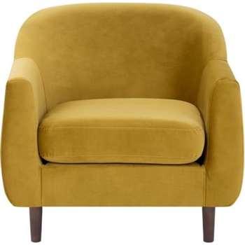 Tubby Armchair, Antique Gold Velvet (73 X 80cm)